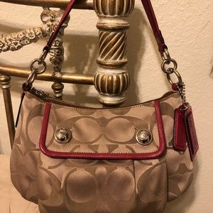 COACH Poppy purse with additional strap